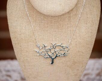 Floating Tree Necklace (The Kamali) Tree of Life (Large)