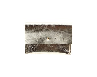 Leather clutch, leather credit card