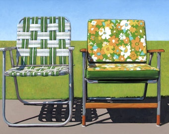 Garden Chairs - limited edition archival print 52/100