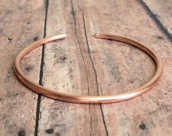 Heavy Copper Cuff. Copper Stacking Bangle. Basic Copper Cuff. Solid Copper Cuff. Copper Cuff Bracelet. Copper 7th Anniversary Gift.