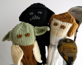 Knit PATTERN Golf Club Cover Star Wars Collection PDF
