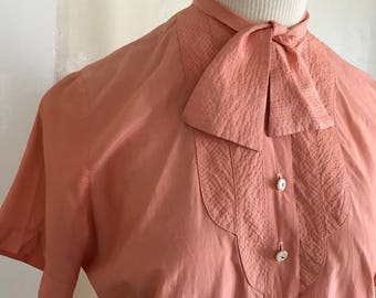 Judy Bond Silk Peach Blouse