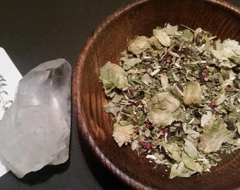 Deep Sleep Tisane ~ Herbal Tea to Reduce Insomnia, Impart Relaxation and Calm A Nervous Mind ~ Tangy and Sweet ~ Loose Leaf Tea ~ 4 oz Bag