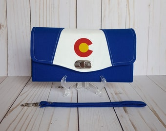 Colorado Flag Wallet, Colorado Gift, Colorado Women's wallet, Colorado flag gift, Colorado Wallet