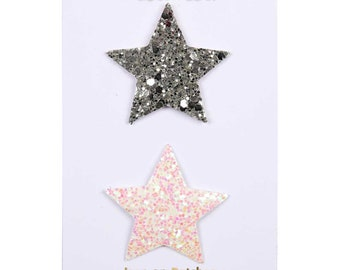 Glitter Star Embroidered Patch, Meri Meri Star Patch, Iridescent Iron On Patch, Fun Birthday Patch, Cute Patch, Backpack Patch, Kawaii Star