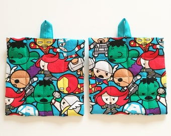 Set two pot holders Marvel superhero theme (Avengers)