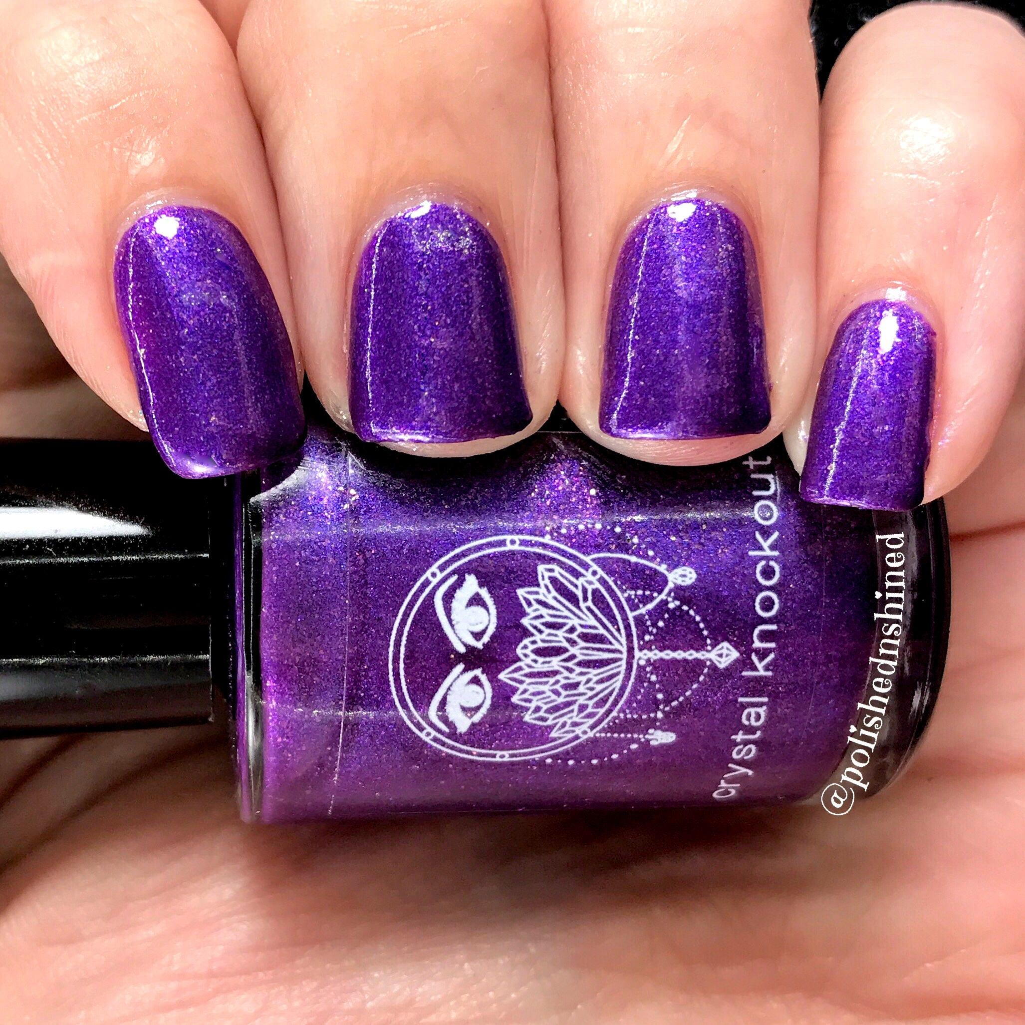 Purple Nail Polish - Deep Purple Gold Shimmer - Dragon Realm from ...