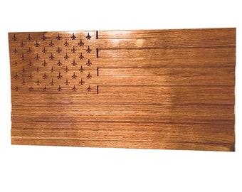 100% Hardwood American Flag