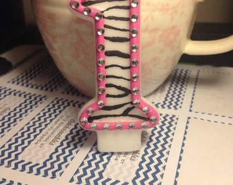 Zebra Birthday Candle