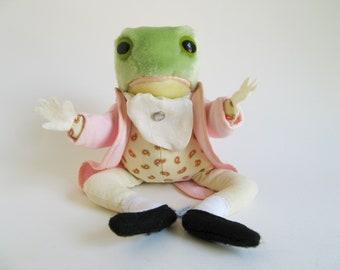 Vintage Jeremy Fisher Frog Stuffed Animal Beatrix Potter Eden Toys Plush Peter Rabbit 1980s Toy