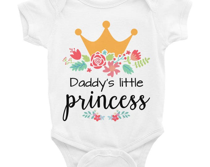 Floral Newborn , Floral Onesie , Baby Girl Clothes, Floral Onesie, Princess Baby Bodysuit,  Daddy's Little Princess Onesie Baby girl onesies