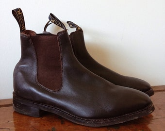 Jardinier Cuir Entier Coupe Bottes Chelsea - Rm Brun Williams 4zNYarUx
