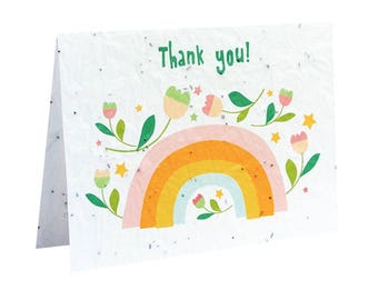 Seeded paper greeting card - Thank you!