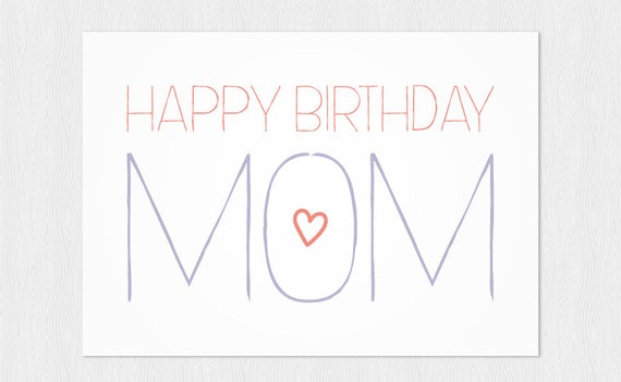Persnickety image inside printable birthday card for mom