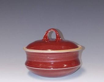 Handmade ceramic lidded jar #1227