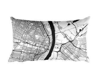 St. Louis Pillow, St. Louis Decor, St. Louis Throw Pillow, St. Louis Gift, St. Louis Map, St. Louis Art, St. Louis Missouri, St. Louis MO