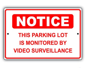 Video Surveillance Aluminum Sign