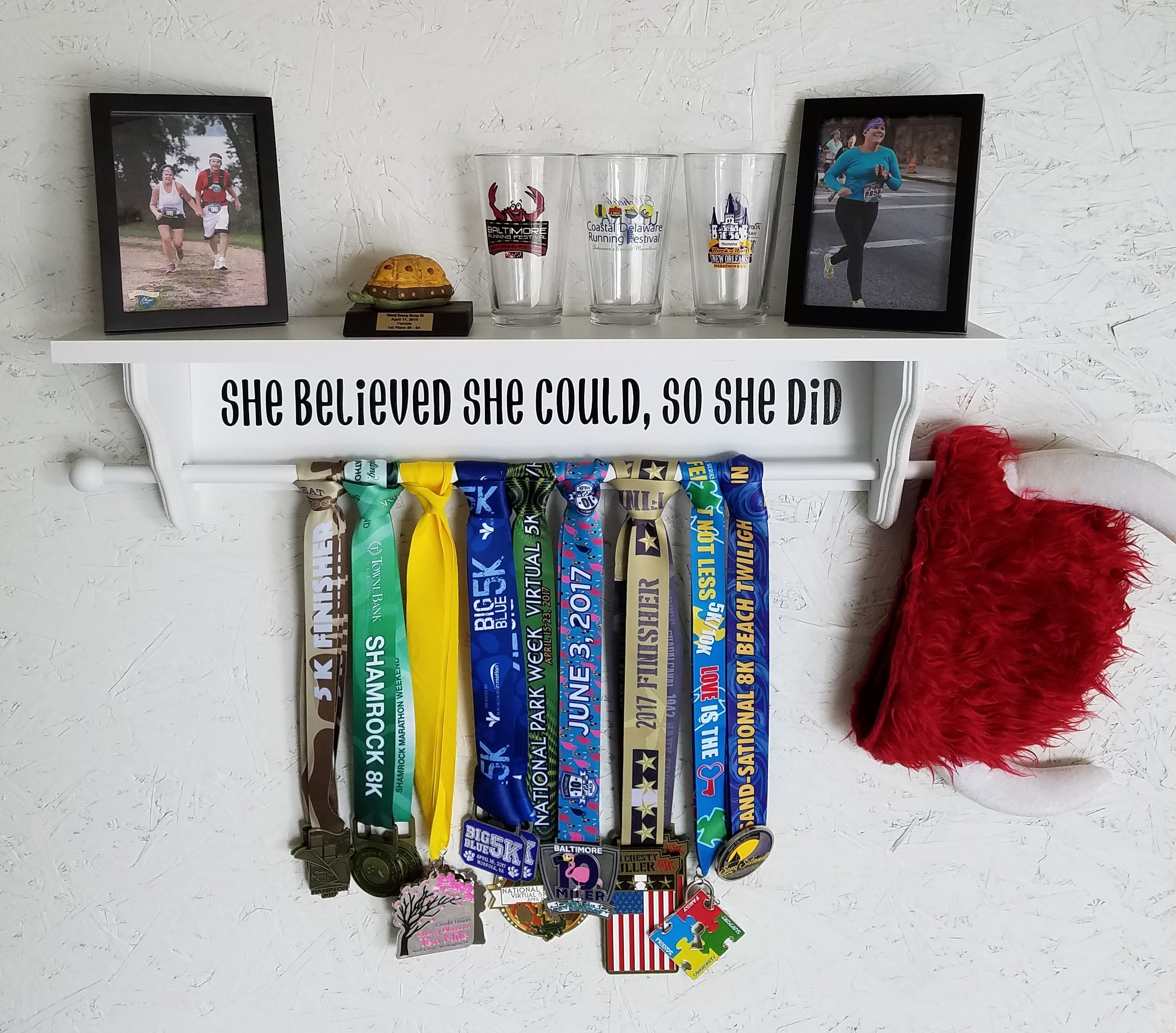 fully or regular display trophy product glitter options shelf personalised in colour medal