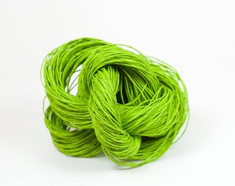 Paper Yarn - Paper Twine: Fresh Green / Lime - Knit, Crochet, Textile Arts, DIY Supply, Gift Wrap, Weave - Washable and Eco-Friendly