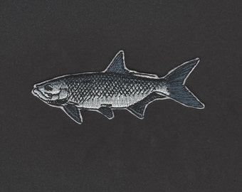 Tarpon Fish Embroidered Iron On Applique Patch