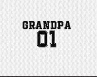 grandpa 01 sports  dxf file instant download silhouette cameo cricut clip art commercial use