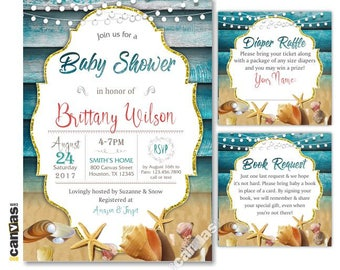 Sea shell invitation Etsy