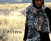 Knitting Pattern Easy Drape Vest Garter Stitch Bulky Yarn Bulky Knitting Big Needles Women's Small Medium