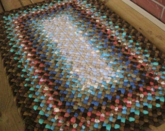 Made To Order Hand Braided Rectangular Rug in your color choices