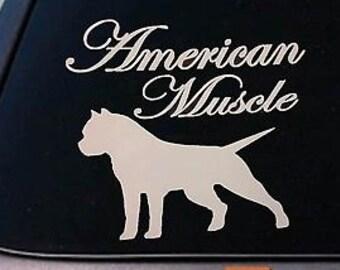 "American Bully *B173* Pit Bull Pitbull Dog 6"" Sticker Car Decal Window Laptop"