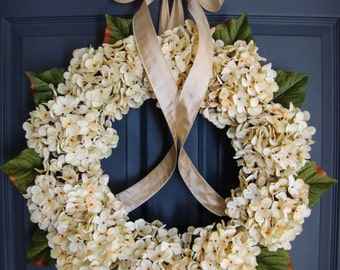 Wreaths | Hydrangea Wreaths | Spring Wreath | Wedding Wreaths | Door Wreath | Outdoor Wreath | Housewarming Gift