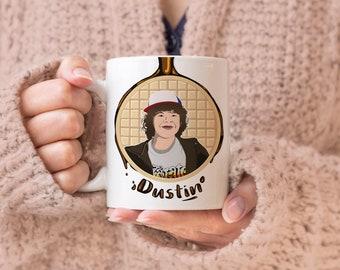 Waffles Don't Lie - Dustin, Geeky Mug, Fandom Mug, Eleven Mug, Gift for Geeks, Gift for Nerds, Waffle Mug