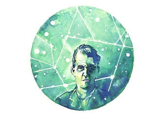 "Wittgenstein — [§] Watercolor Painting - 8x10 or 10x12"" Giclee Print"