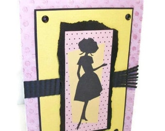 Hand Made Mother's Day Card, Retro Barbie, Sassy Sentiment