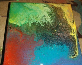 Abstract spray paint on canvas