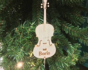 Bass Personalized Christmas Ornament