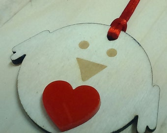 Red Robin Laser Cut Decoration