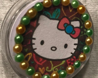 Hello Kitty Theme Retractable Badge/ID Holder