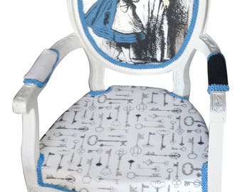Alice in Wonderland inspired Louis chair - child size