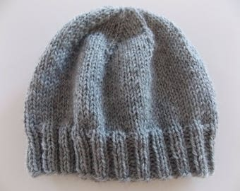 Womens Winter Wool Hat - Light Gray - Beanie Collection - Wool Hat - READY TO SHIP!