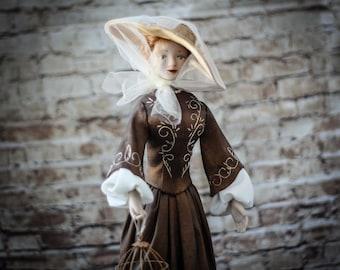 Artist doll Aurelia | OOAK art doll | Interior doll | Unique doll | Sculpted doll | Polymer clay doll | Art doll handmade | Home decor