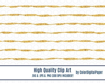 Svg Clipart Gold Glitter Stripes Lines Pattern, Commercial Use, Instant Download, Vector, Glitter Clipart, Clip Art Vector