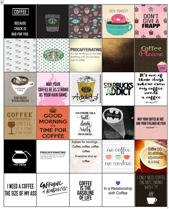 Coffee adulting stickers mini happy planner printable sticker personal planner coffee pumpkin spice planner student planner