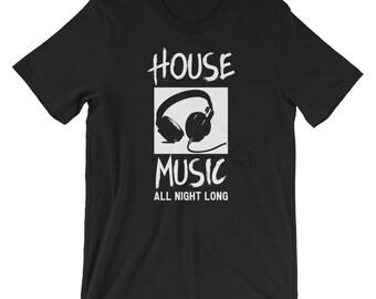 Dj shirt, dj gift, music shirt, dj t-shirt, gift for dj, dj t shirt, disc jockey shirt, house music shirt, i love house music