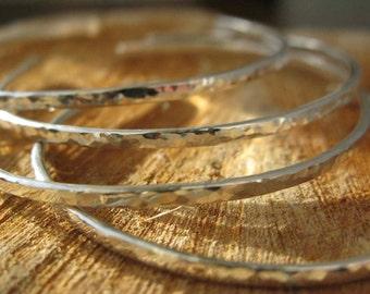 Sterling Silver HAmmered Cuff Bracelets| Custom bracelet| Stacking Bracelets