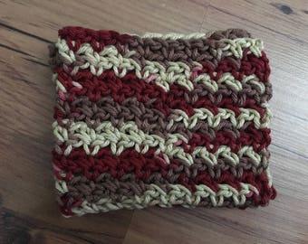 ONE crochet 100% cotton dishcloth/washcloth(012)