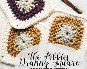 PATTERN: The Pebbles Granny Square || Easy Crochet Blanket Pattern