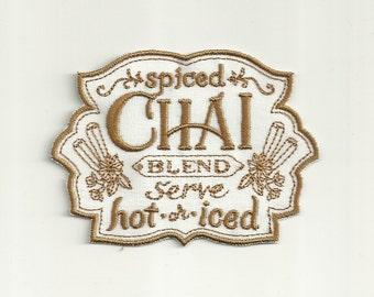 Chai Tea Cafe Patch! Custom Made! AP11