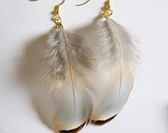Mana: Feather earrings