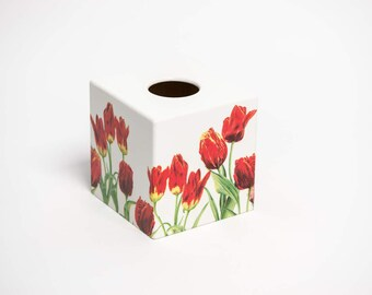 Red Tulip Tissue Box Cover perfect for mothers day