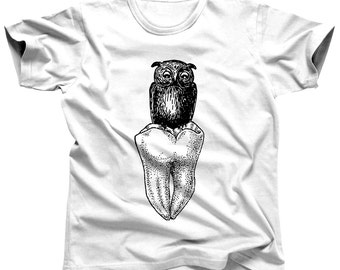 Dentist Shirt - Owl Shirt - Owl Tee - Wisdom Tooth - Wisdom Teeth - Dental Hygienist - Dental Assistant - Dentist Gift - Dental Gift
